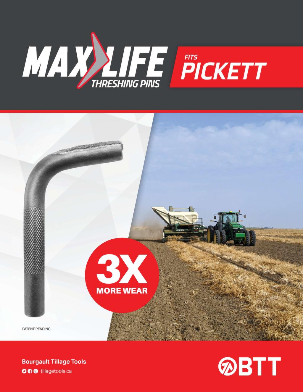 max life threshing pins